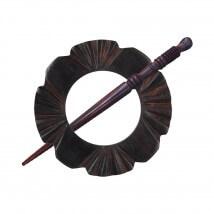 KnitPro Exotica Papatya Şeklinde Ahşap Şal Aksesuarı - 20860