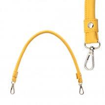 KnitPro 2'li Sarı Renk Suni Deri Kancalı Çanta Sapı