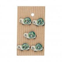 Buttonmad Yeşil Kaplumbağa Seramik Düğme - L123
