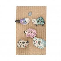 Buttonmad Karışık Renk Hayvanlar Seramik Düğme - L47