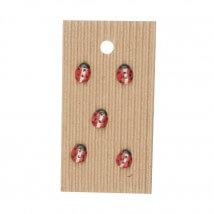 Buttonmad Kırmızı Uğur Böceği Seramik Düğme - L530