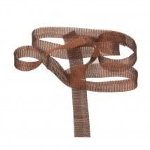 Kartopu 1 cm Kahverengi Düz Titanyum Tel Kurdele - 23