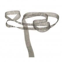 Kartopu 1 cm Gri Düz Titanyum Tel Kurdele - 31