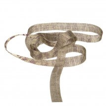 Kartopu 1 cm Kahverengi Düz Titanyum Tel Kurdele - 40