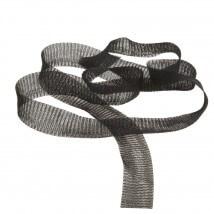 Kartopu 2 cm Siyah Düz Titanyum Tel Kurdele - 25