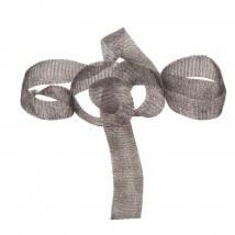 Kartopu 2 cm Gri Düz Titanyum Tel Kurdele - 28