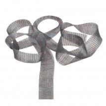 Kartopu 2 cm Gri Düz Titanyum Tel Kurdele - 136