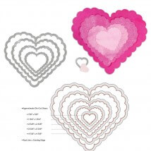 Sizzix 5 Parçalı Süslü Kalp Şekilli Kesici Kalıp - 1657562