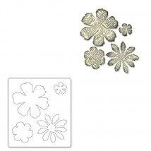 Sizzix Kat Kat Çiçek Kalıbı - 1656640