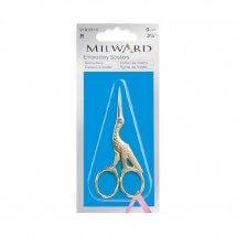 Milward 9 cm Altın Rengi Dekoratif Nakış Makası - 2182111