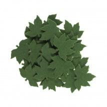 La Mia 3.5x5.5 cm 25'li Yeşil Çınar Yaprak Keçe Motifler - YS352-M58