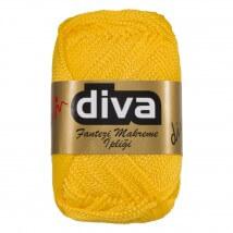 Diva Makrome Hardal Sarısı El Örgü İpi -  90