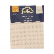 DMC 35x45 cm 6 ct Parça Etamin Kumaşı – DC07-ECRU