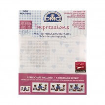 DMC 35x45 cm 14 ct Parça Etamin Kumaşı – DC27C- BLUE