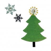 Sizzix Çam ağacı Desenli Kesici Kalıp - 1658181