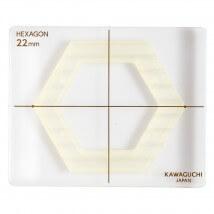 Kiyohara Kawaguchi 22 Mm Plastik Altıgen Patchwork Kalıbı  - 80-841