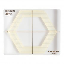 Kiyohara Kawaguchi 26 MmPlastik Altıgen Patchwork Kalıbı  - 80-842