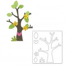 Sizzix Ağaç Yapraklar ve Çiçekler Şekilli Kalıp - 1660404