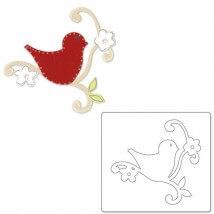 Sizzix Kuş Yaprak ve Dallar Şekilli Kalıp - 1656354