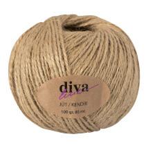 Diva Line 100 gr Naturel Jüt İp - 01