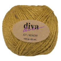 Diva Line 100 gr Zeytin Yeşili Jüt İp - 04