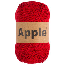 Apple Kırmızı Doğal El Örgü İpi