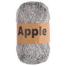 Apple Açık Gri Ebruli Doğal El Örgü İpi