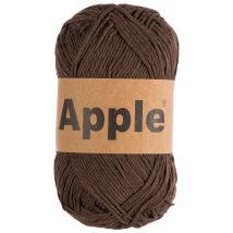 Apple Koyu Kahverengi Doğal El Örgü İpi