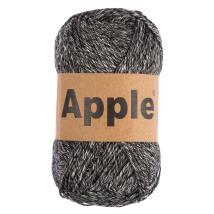Apple Siyah Ebruli Doğal El Örgü İpi