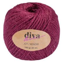 Diva Line Mürdüm Rengi Jüt İp - 9