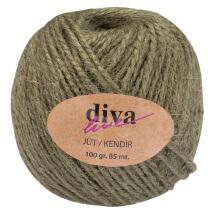 Diva Line 100 gr Haki Yeşil Jüt İp