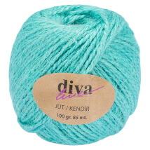 Diva Line 100 gr Okyanus Mavi  Jüt İp - 8