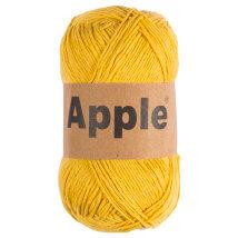 Apple Hardal Rengi Doğal El Örgü İpi