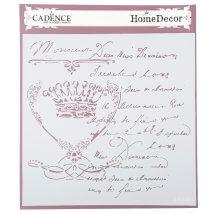 Cadence 45x45cm Home Dekor Stencil Şablon - HD01