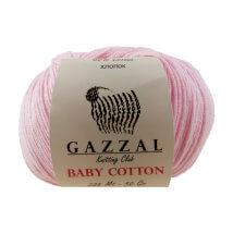 Gazzal Baby Cotton Açık Pembe Bebek Yünü - 3411