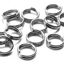 Cousin 100 Adet 6 mm Metal Gümüş Çift Takı Halkası - 34712137