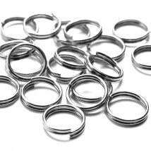 Cousin 100 Adet 8 mm Metal Gümüş Renk Çift Takı Halkası - 34712138
