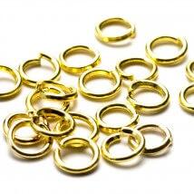 Cousin 250 Adet 4 mm Altın Renk Metal Takı Halkası - 34712155