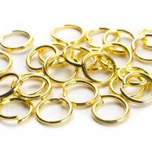 Cousin 200 Adet 6 mm Altın Renk Metal Takı Halkası - 34712156