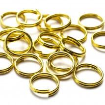 Cousin 100 Adet 8 mm Metal Altın Renk Çift Takı Halkası - 34712159