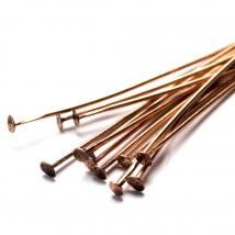 Cousin 60 Adet 5.08 cm Bakır Renk Metal Düz Başlı Takı Çivisi - 34712164