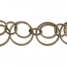 Cousin 25.4 cm Antik Altın Renk Yuvarlak Zincir - 34718045
