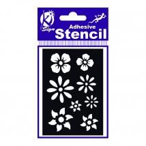 Ki-Sign 7x10 cm Ölçülerinde Çiçek Stencil Şablon - BS-021