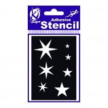 Ki-Sign 7x10 cm Ölçülerinde Yıldız Stencil Şablon - BS-029