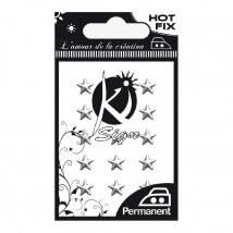 Ki-Sign Yıldız Şekilli Ütüyle Yapışan Metal Taş - C-METAL001AR