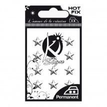 Ki-Sign Gümüş Yıldız Şekilli Ütüyle Yapışan Metal Taş - C-MET