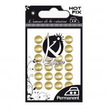 Ki-Sign Altın Kubbe Ütüyle Yapışan Metal Taş - C-METAL018OR