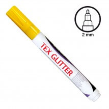 Ki-Sign Glitter Sarı Tekstil Kalemi - FTEXG700