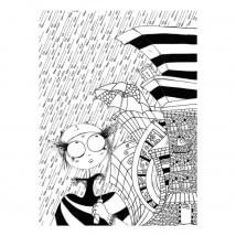 Muzi Tablo Boyama Serisi 1 - Yağmur