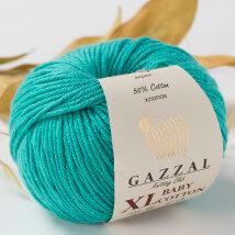 Gazzal Baby Cotton XL Mavi Bebek Yünü - 3426